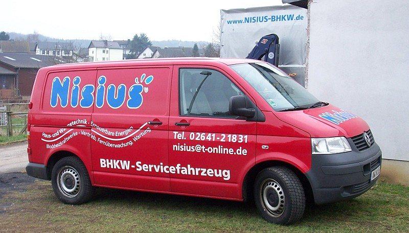 BHKW Vollwartung Servicefahrzeug
